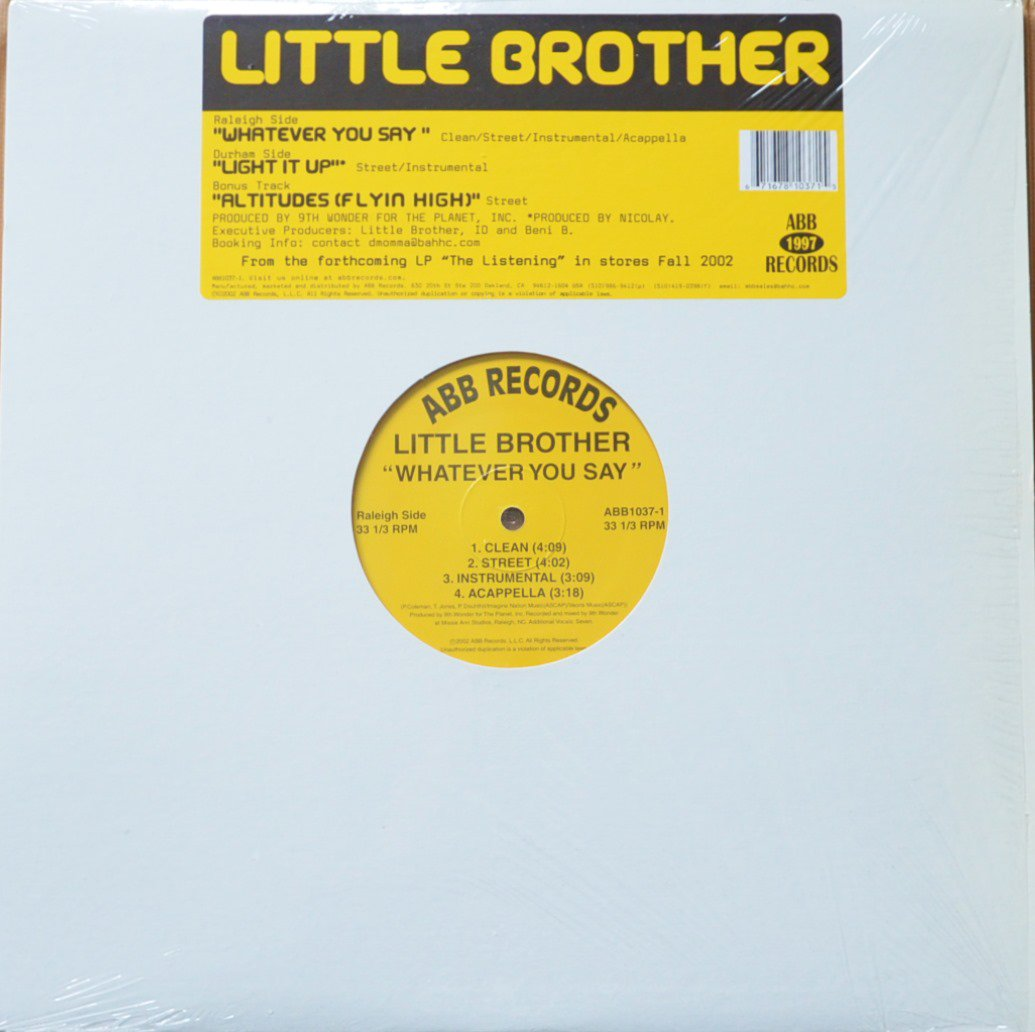 LITTLE BROTHER / WHATEVER YOU SAY / LIGHT IT UP / ALTITUDES (FLYIN' HIGH) (12