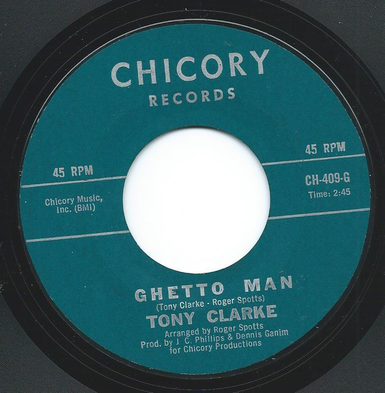 TONY CLARKE / GHETTO MAN / LOVE POWER (7