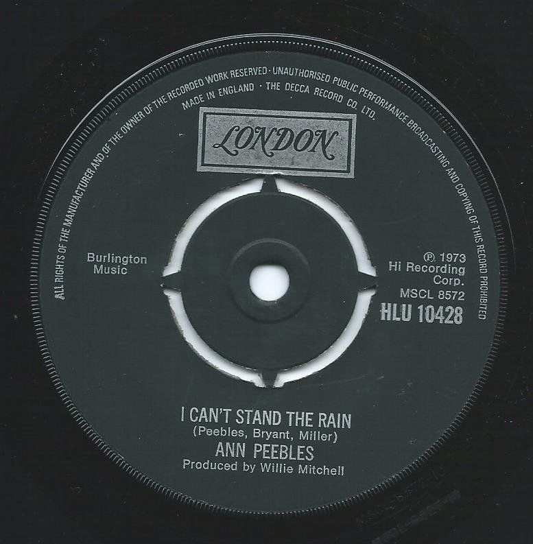 ANN PEEBLES ‎/ I CAN'T STAND THE RAIN / I'VE BEEN THERE BEFORE (7