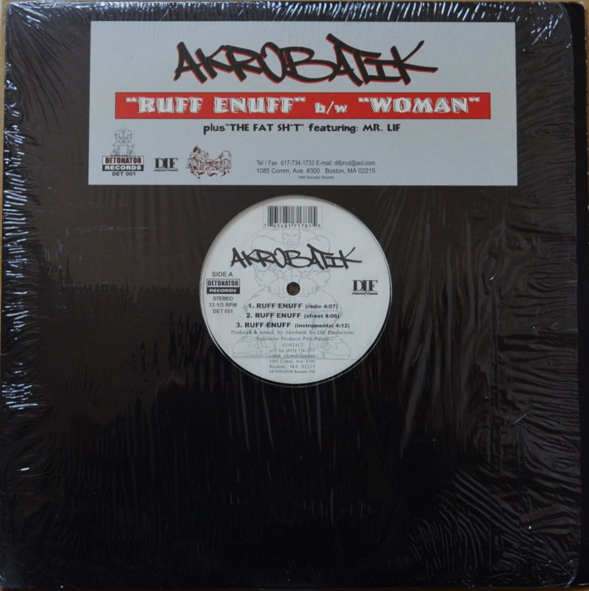 AKROBATIK ‎/ RUFF ENUFF / WOMAN / THE FAT SH*T (FEAT.MR.LIF) (12