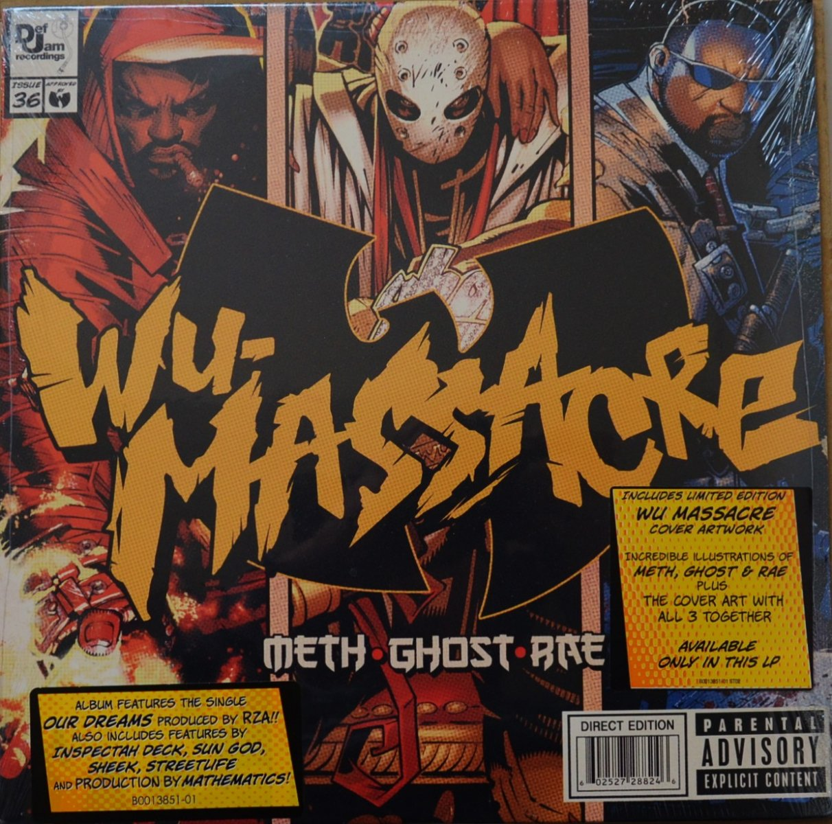 METHOD MAN,GHOSTFACE KILLAH,RAEKWON (METH,GHOST,RAE) / WU-MASSACRE (1LP)