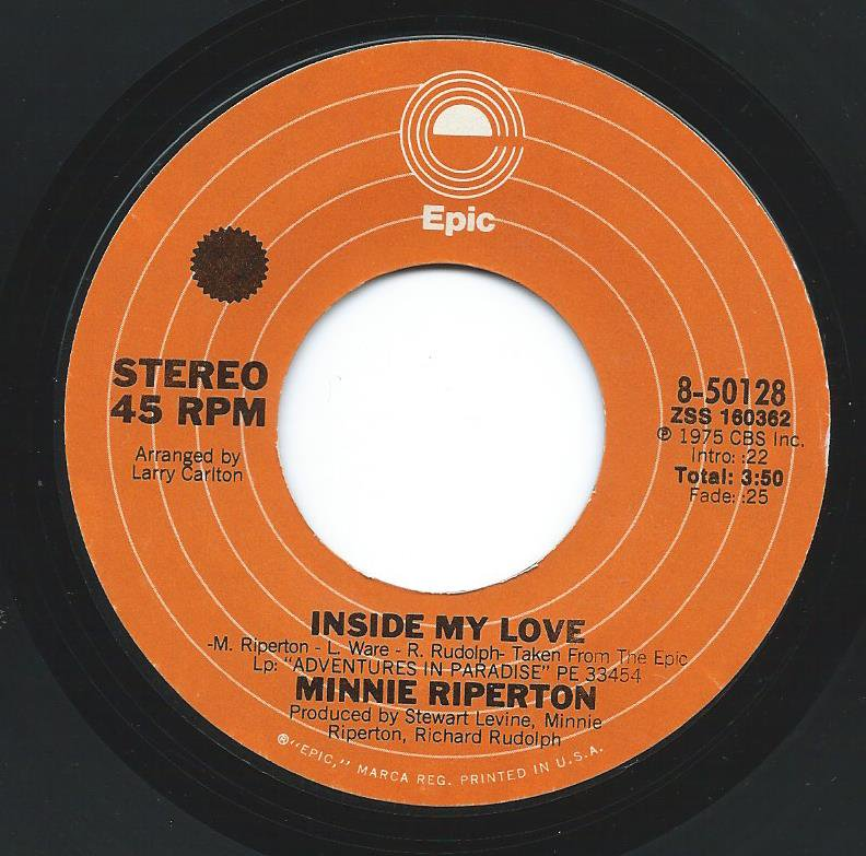MINNIE RIPERTON / INSIDE MY LOVE / DON'T LET ANYONE BRING YOU DOWN (7