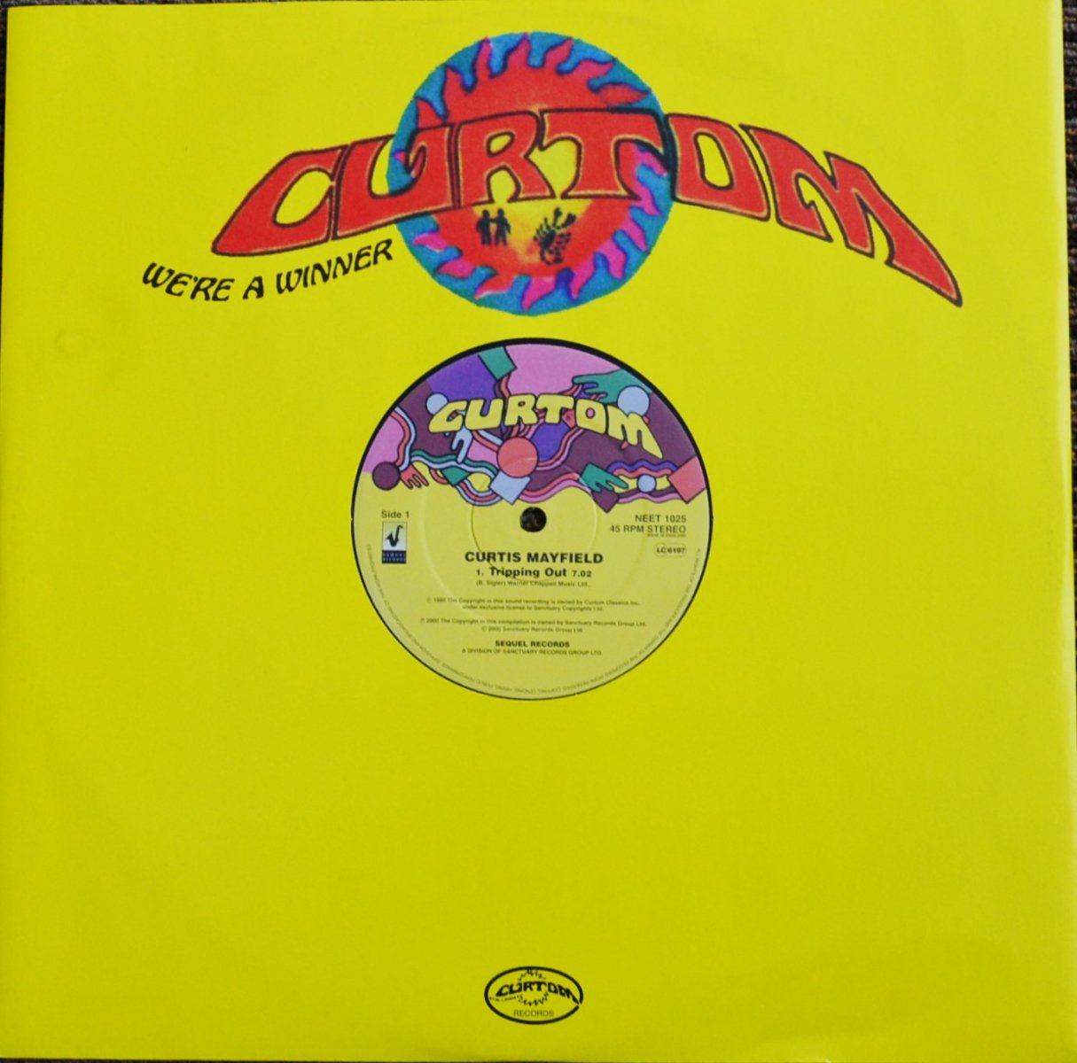 CURTIS MAYFIELD / TRIPPING OUT / GIVE ME YOUR LOVE / YOU'RE SO GOOD TO ME (12