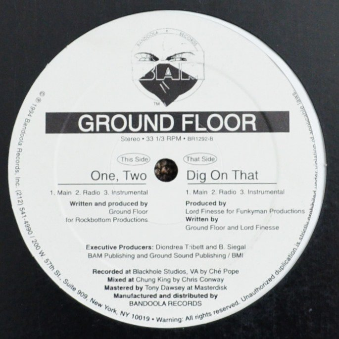GROUND FLOOR / DIG ON THAT (PROD.LORD FINESSE) / ONE, TWO (RE-ISSUE) (12