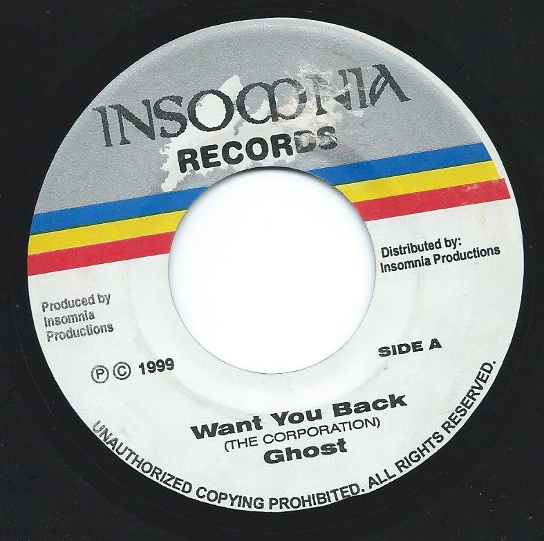 GHOST / BARRY O'HARE ‎/ WANT YOU BACK / HURRICANE (7