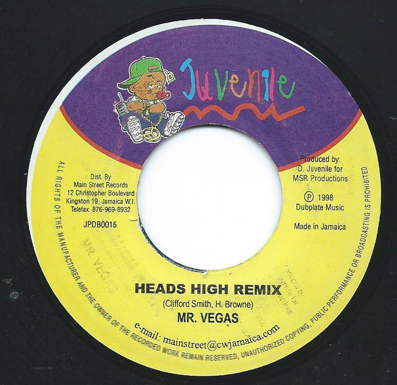 MR. VEGAS ‎/ HEADS HIGH REMIX (7