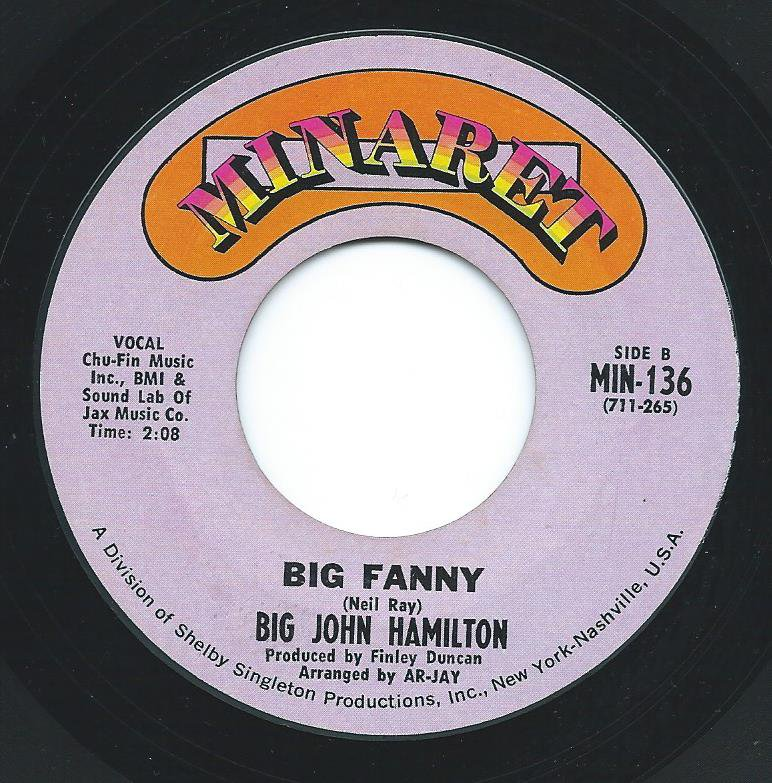 BIG JOHN HAMILTON ‎/ BIG FANNY / HOW MUCH CAN A MAN TAKE (7