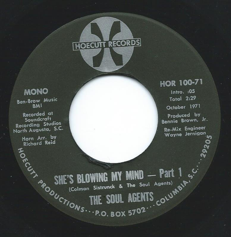 THE SOUL AGENTS ‎/ SHE'S BLOWING MY MIND PART1 & PART 2 (7