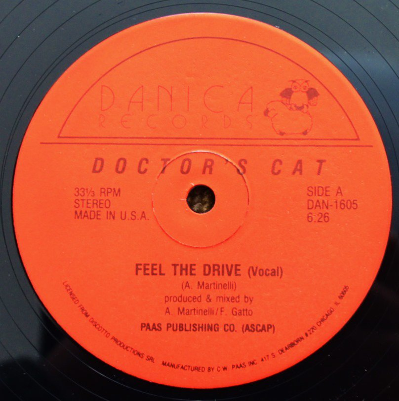 DOCTOR'S CAT ‎/ FEEL THE DRIVE (12