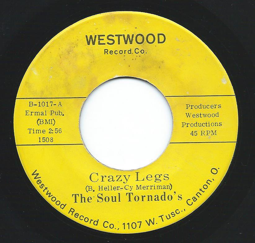 THE SOUL TORNADO'S / CRAZY LEGS / BOBBY'S MOOD (7