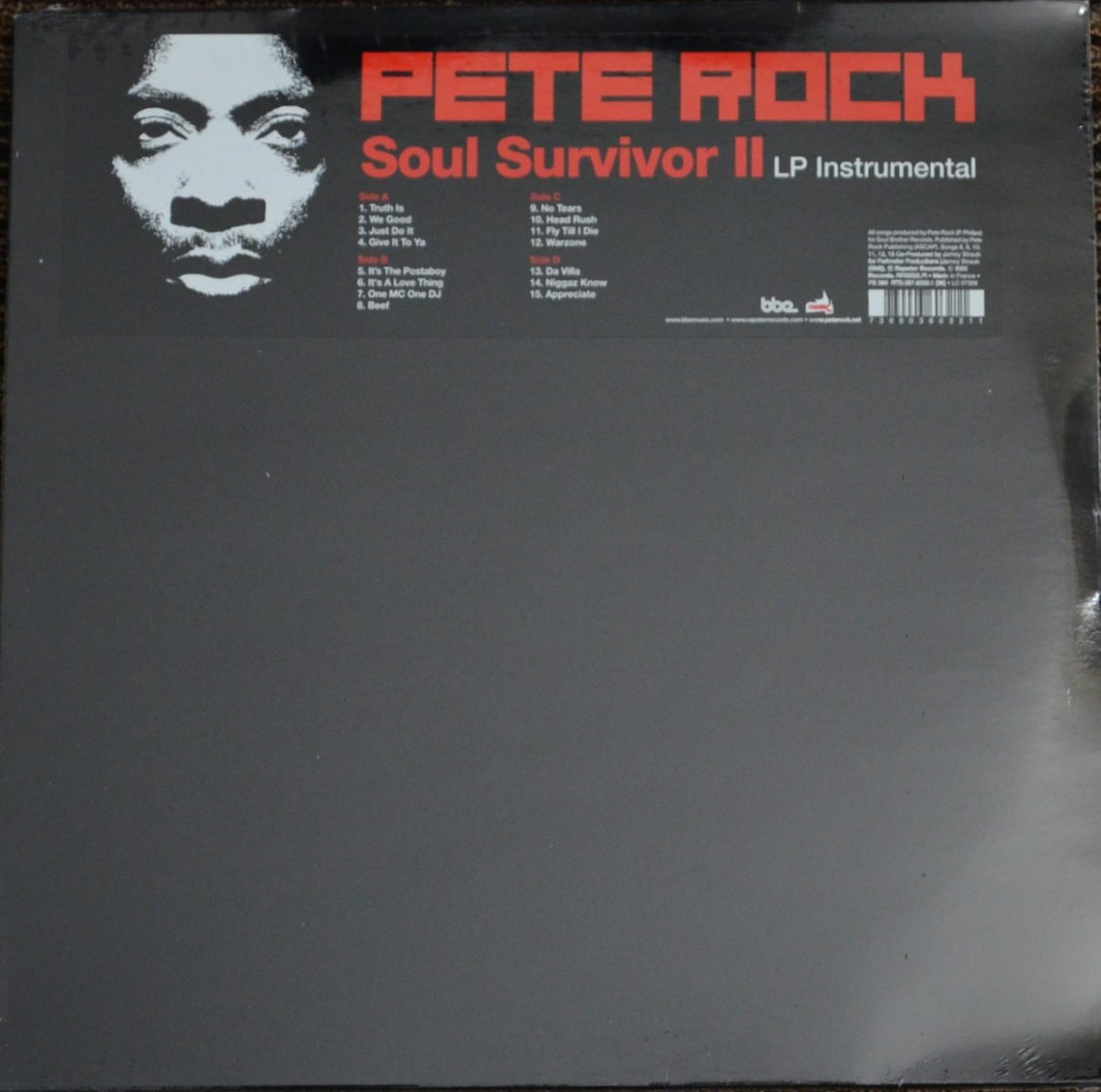 PETE ROCK / SOUL SURVIVOR �(LP INSTRUMENTAL) (2LP)
