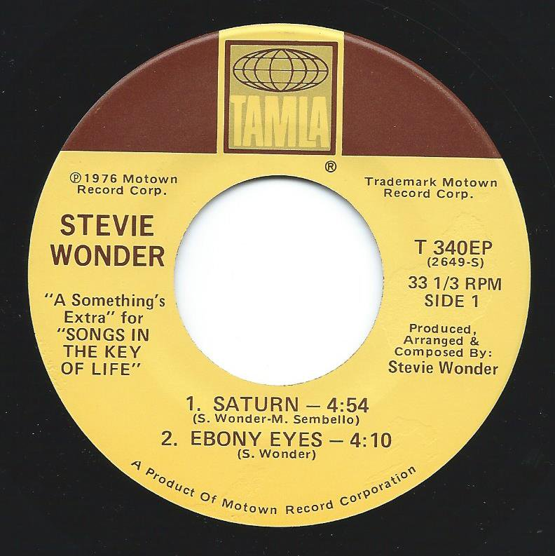 STEVIE WONDER ‎/ SATURN / EBONY EYES / ALL DAY SUCKER / EASY GOIN' EVENING (7