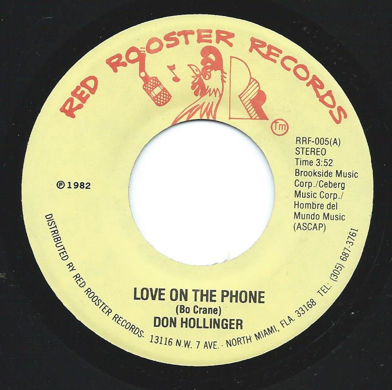 DON HOLLINGER ‎/ LOVE ON THE PHONE / LOVE ON THE PHONE (RAP) (7