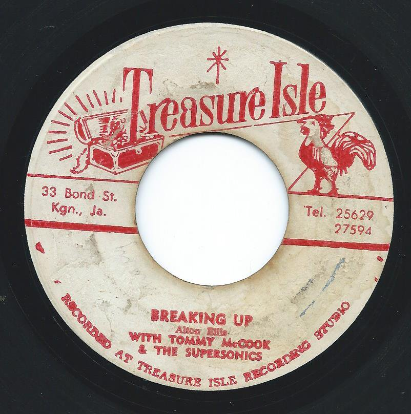 ALTON ELLIS WITH TOMMY MCCOOK & THE SUPERSONICS ‎/ BREAKING UP (7