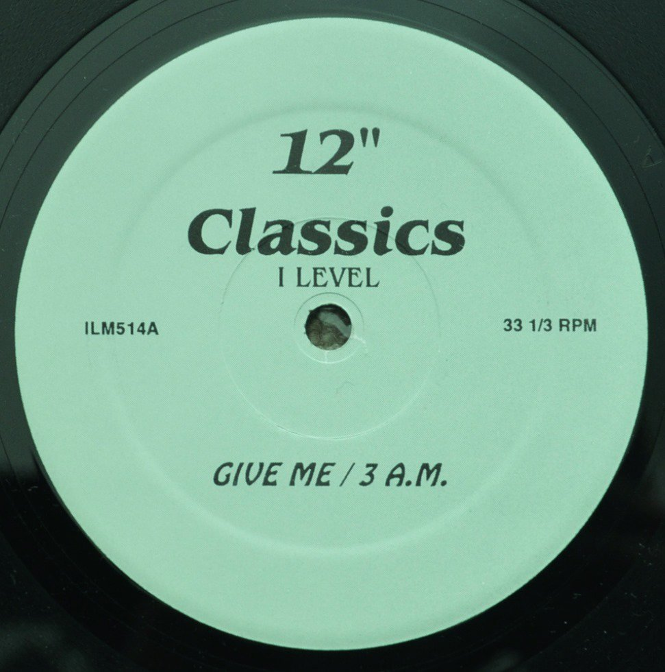 I LEVEL / HAROLD MELVIN AND THE BLUE NOTES / GIVE ME / MESSAGE IN OUR MUSIC (12