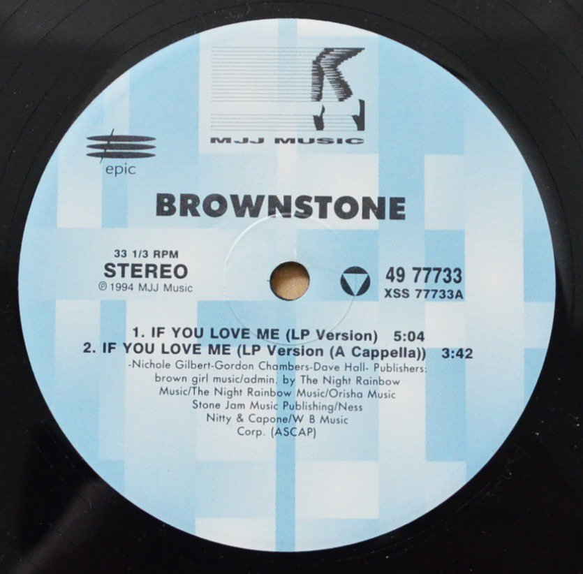 BROWNSTONE ‎/ IF YOU LOVE ME (REMIXES) (12