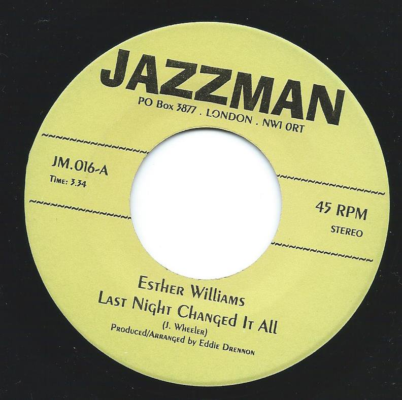 ESTHER WILLIAMS / TOMMIE YOUNG / LAST NIGHT CHANGED IT ALL / HIT AND RUN LOVER (7