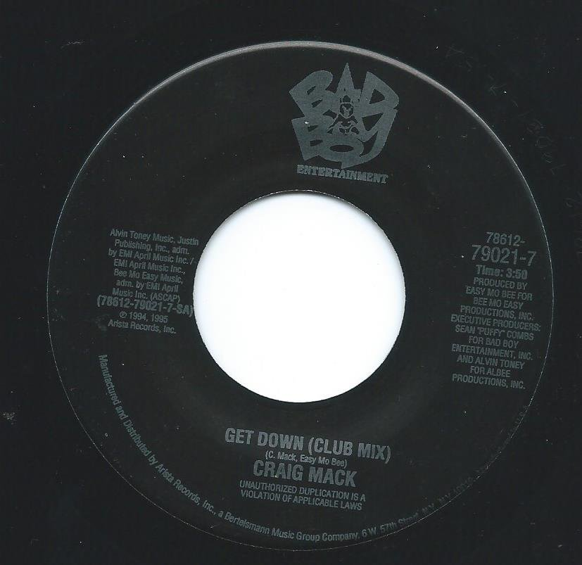 CRAIG MACK ‎/ GET DOWN (CLUB MIX,Q-TIP REMIX) (7