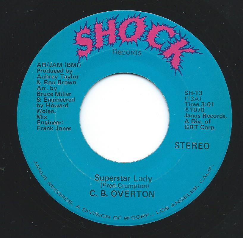 C. B. OVERTON / SUPERSTAR LADY / WHEN IT RAINS IT POURS (7