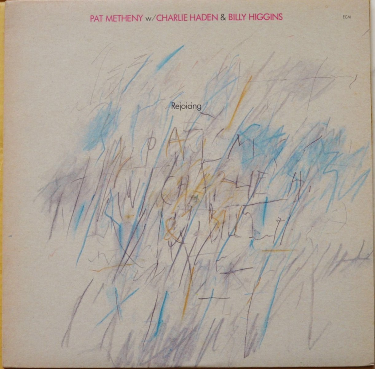 PAT METHENY W/ CHARLIE HADEN & BILLY HIGGINS ‎/ REJOICING (LP)
