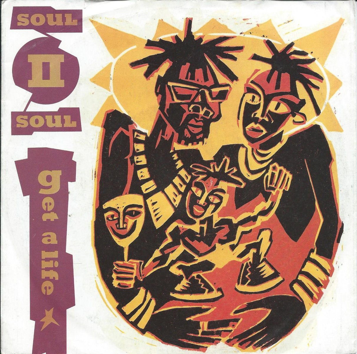 SOUL II SOUL ‎/ GET A LIFE / JAZZIE'S GROOVE (NEW VERSION) (7