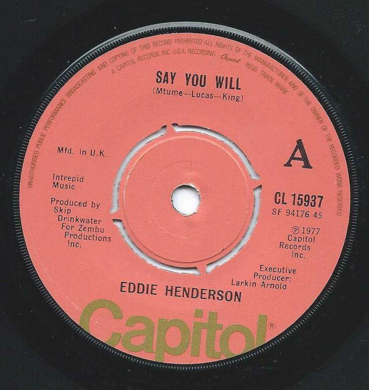 EDDIE HENDERSON ‎/ SAY YOU WILL / THE FUNK SURGEON (7