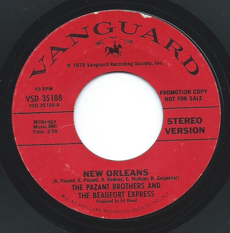 THE PAZANT BROTHERS AND THE BEAUFORT EXPRESS ‎/ NEW ORLEANS (7