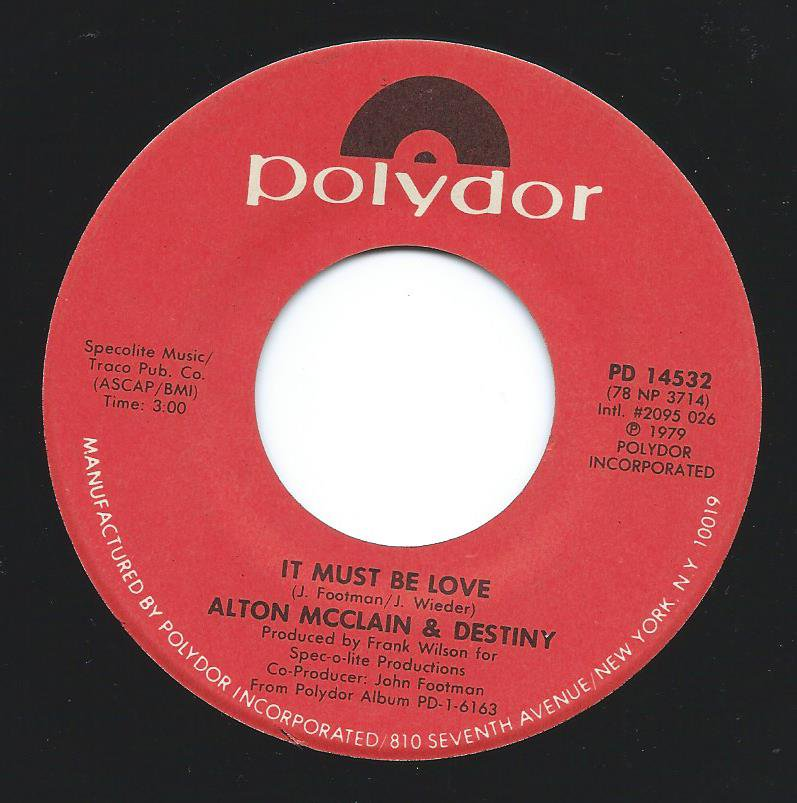 ALTON MCCLAIN & DESTINY / IT MUST BE LOVE / TAKING MY LOVE FOR GRANTED (7