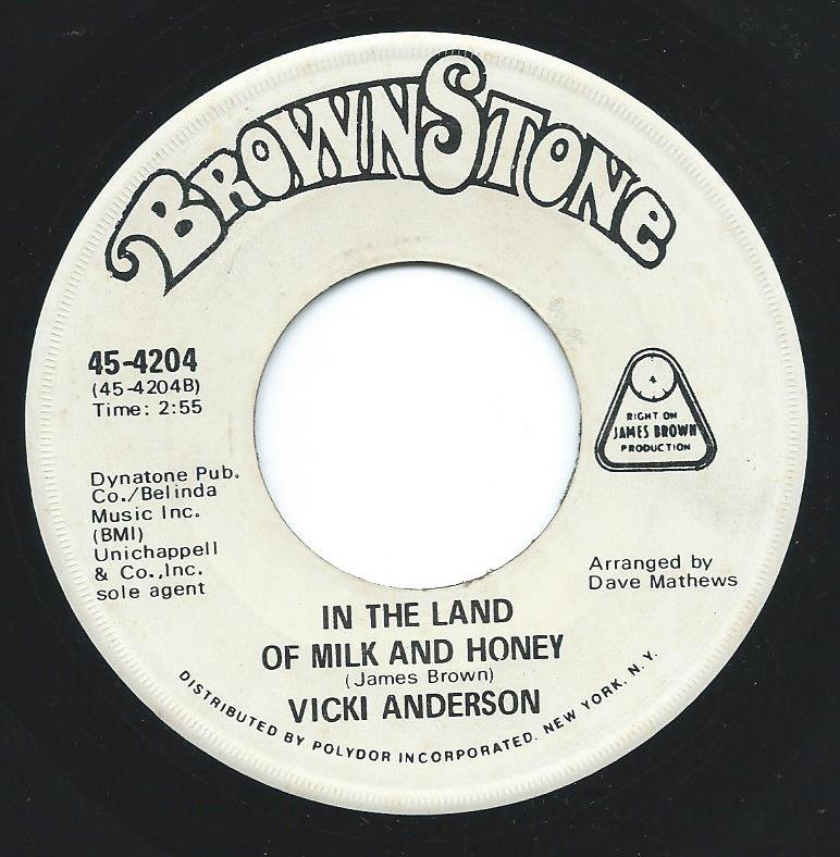 VICKI ANDERSON ‎/ I'LL WORK IT OUT / IN THE LAND OF MILK AND HONEY (7