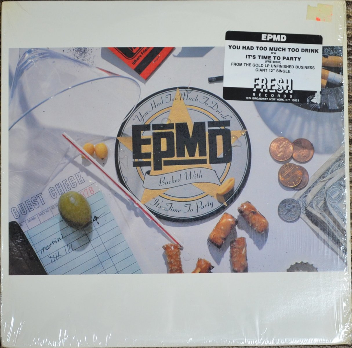 EPMD ‎/ YOU HAD TOO MUCH TO DRINK / IT'S TIME TO PARTY (12