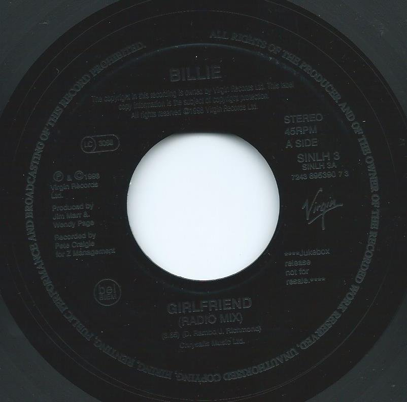 BILLIE / GIRLFRIEND / LOVE GROOVE (7