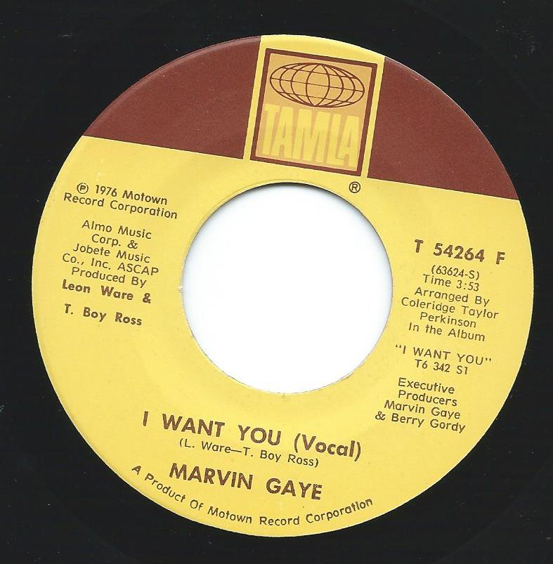 MARVIN GAYE / I WANT YOU (7