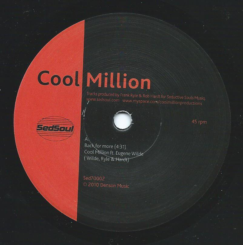 COOL MILLION ‎/ BACK FOR MORE (FEAT.EUGENE WILDE) / LOOSE (FEAT.DEE DEE & EUGENE WILDE) (7