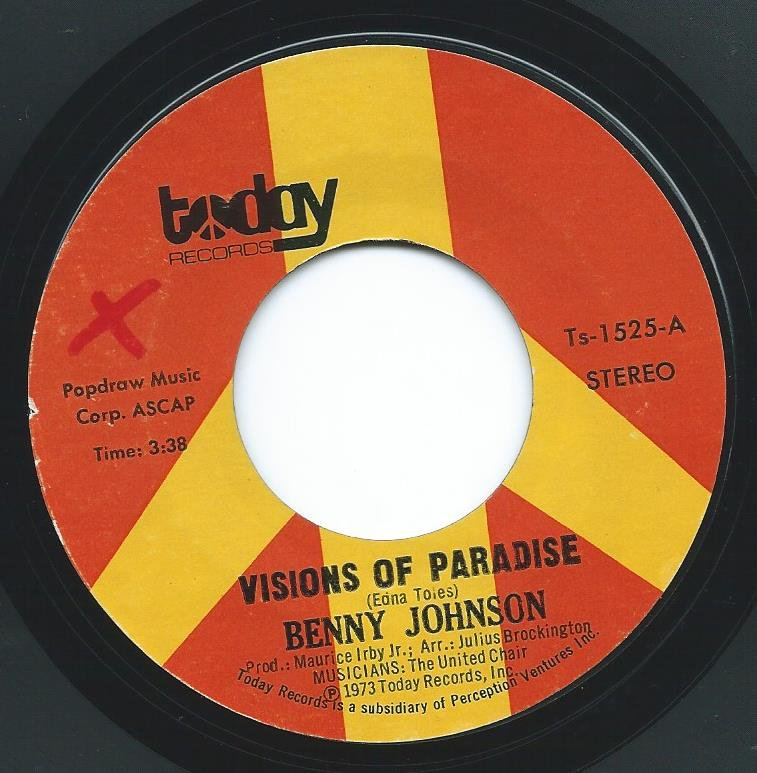 BENNY JOHNSON ‎/ VISIONS OF PARADISE / STOP ME (7
