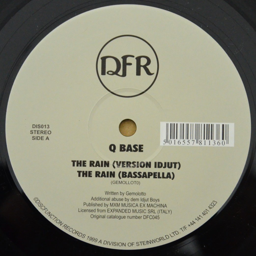 Q BASE / THE RAIN (REMIXED BY IDJUT BOYS) / THE SUN (12