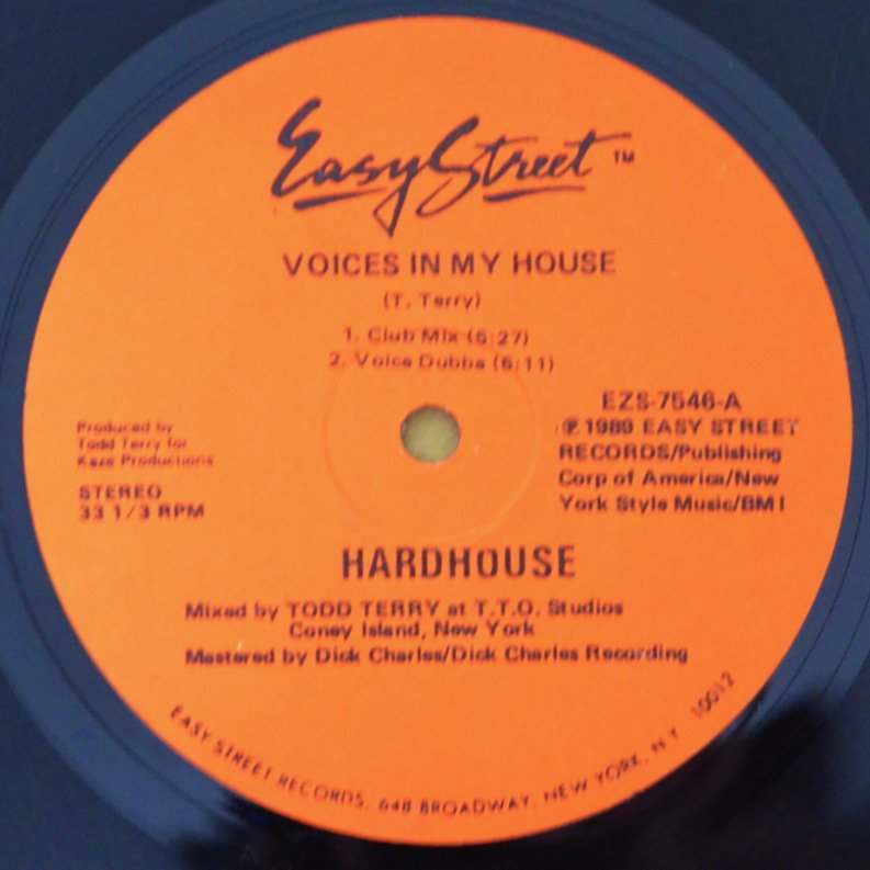 HARDHOUSE ‎/ VOICES IN MY HOUSE / THE BASS GIRL (PROD BY TODD TERRY) (12