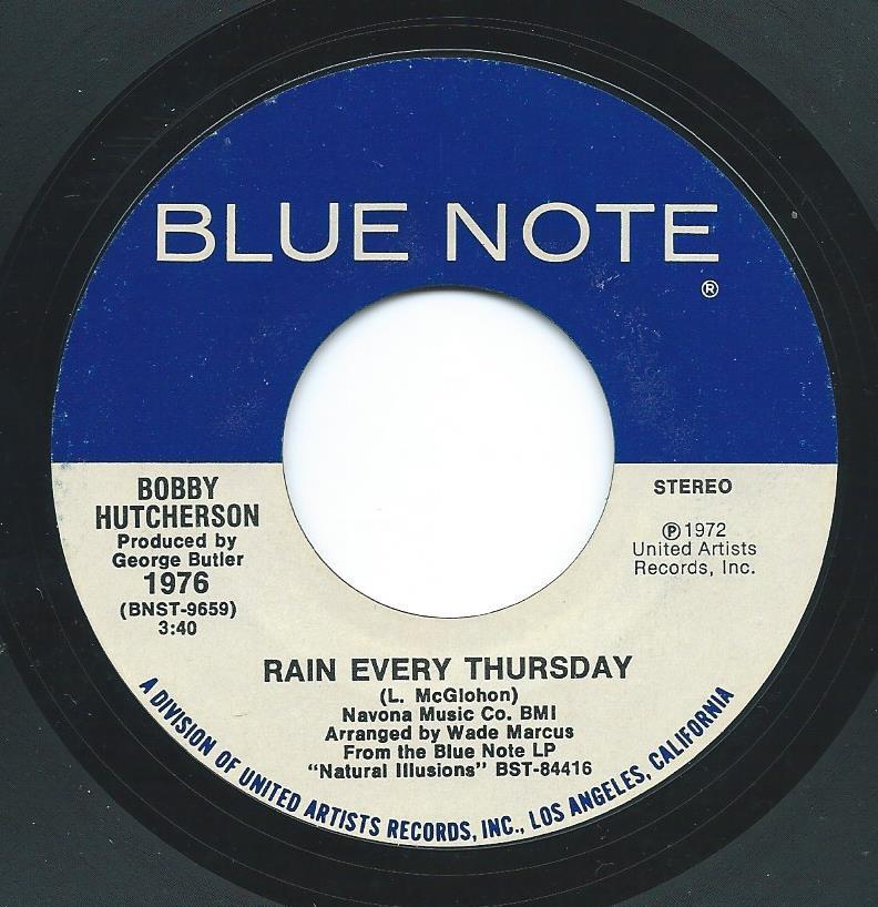 BOBBY HUTCHERSON / RAIN EVERY THURSDAY / WHEN YOU'RE NEAR (7