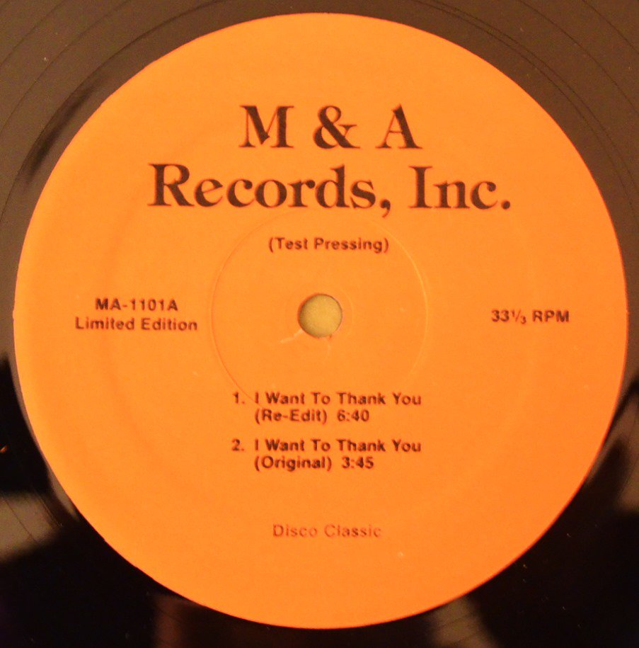 ALICIA MYERS / PEOPLE'S CHOICE / I WANT TO THANK YOU / DO IT ANY WAY YOU WANNA (RE-EDIT) (12