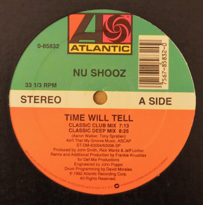 NU SHOOZ ‎/ TIME WILL TELL (12