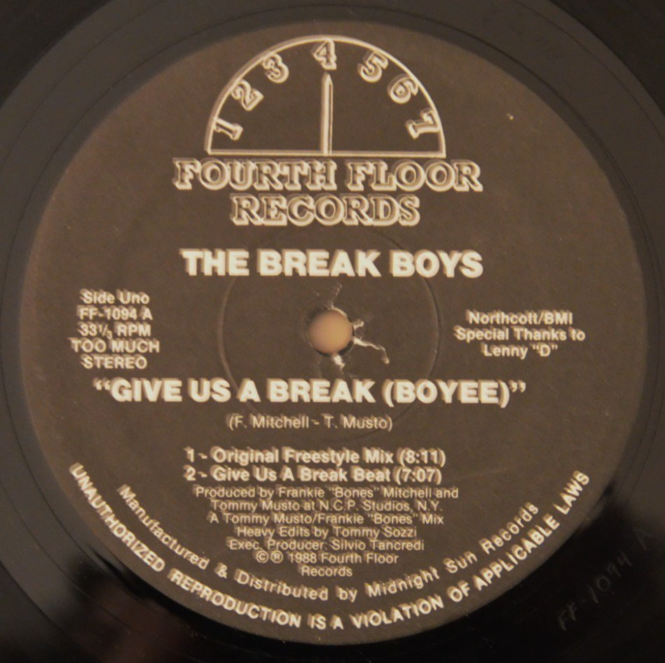 THE BREAK BOYS ‎/ GIVE US A BREAK (BOYEE) (12
