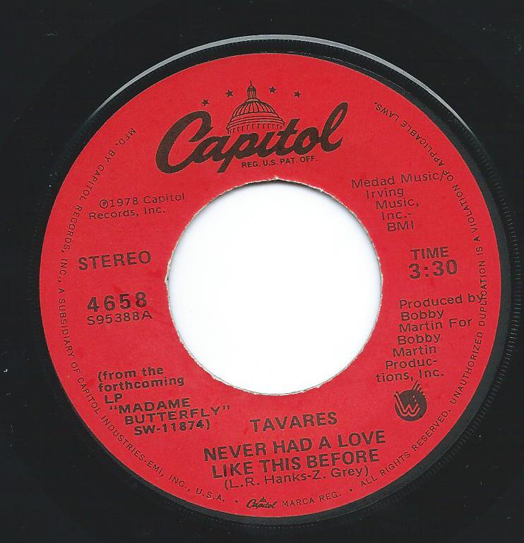 TAVARES / NEVER HAD A LOVE LIKE THIS BEFORE / POSITIVE FORCES (7