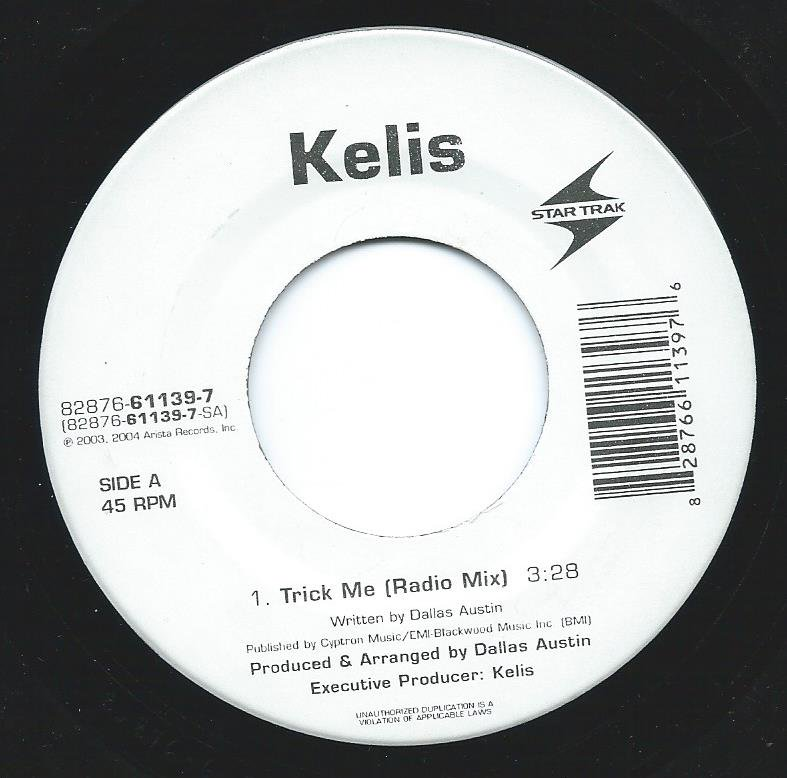 KELIS ‎/ TRICK ME (PROD BY DALLAS AUSTIN) (7