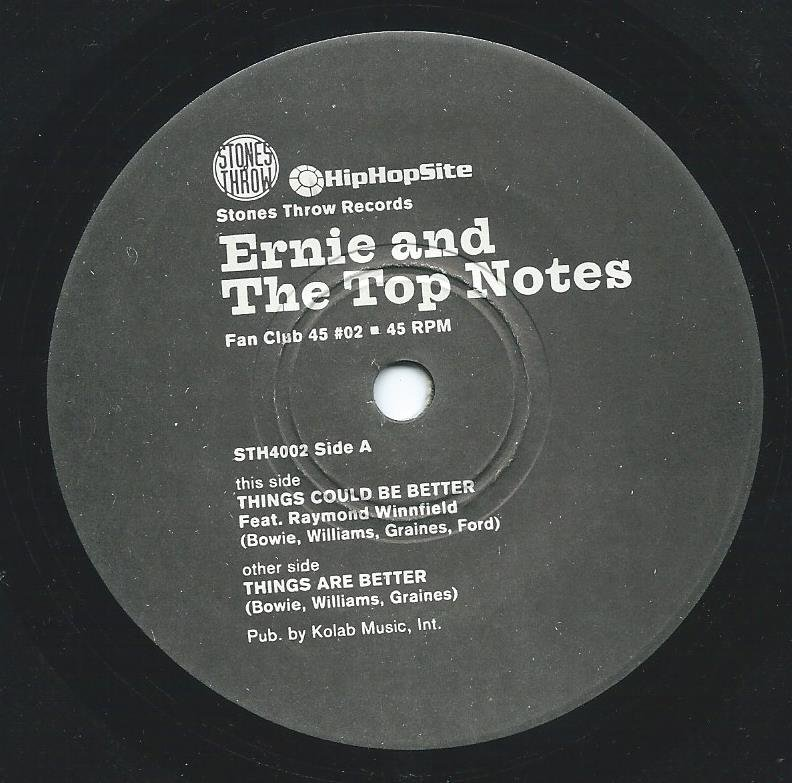 ERNIE AND THE TOP NOTES / THINGS COULD BE BETTER / THINGS ARE BETTER (7