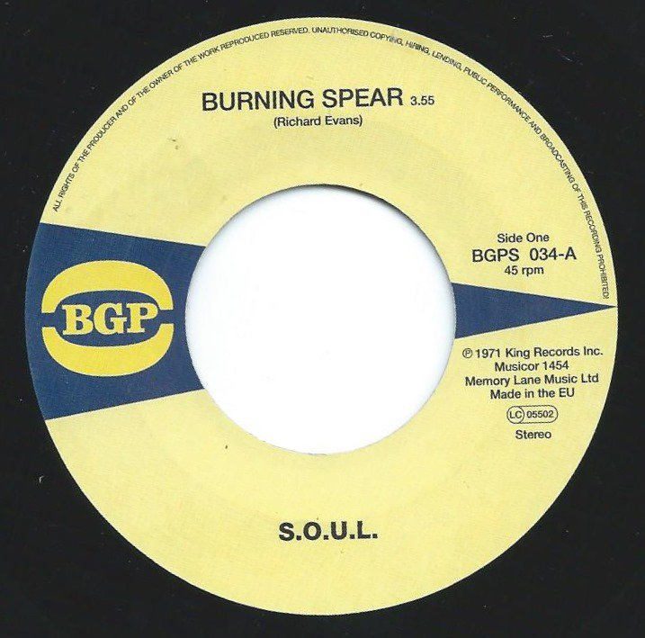 S.O.U.L. / BURNING SPEAR / DO WHATEVER YOU WANT TO DO (7