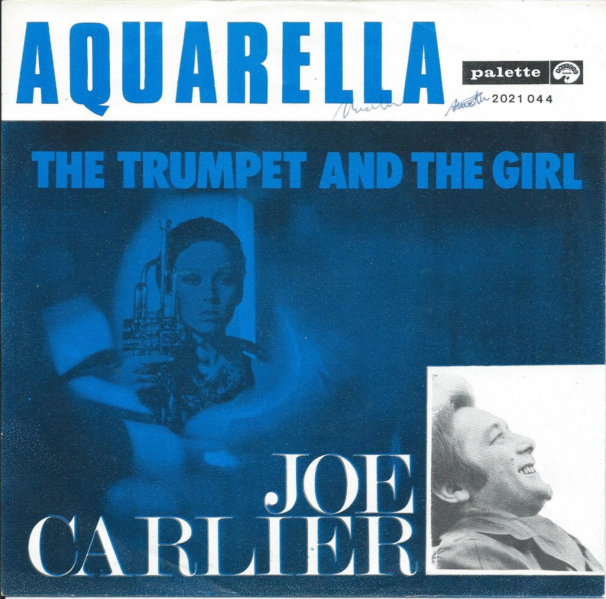 JO CARLIER ‎/ AQUARELLA / THE TRUMPET AND THE GIRL (7