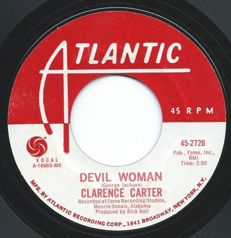 CLARENCE CARTER ‎/ DEVIL WOMAN / I CAN'T LEAVE YOUR LOVE ALONE (7