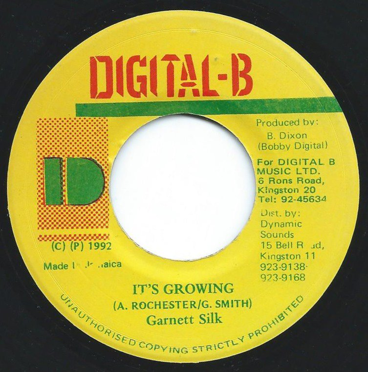 GARNETT SILK ‎/ IT'S GROWING / MOVING AWAY (VERSION) (7