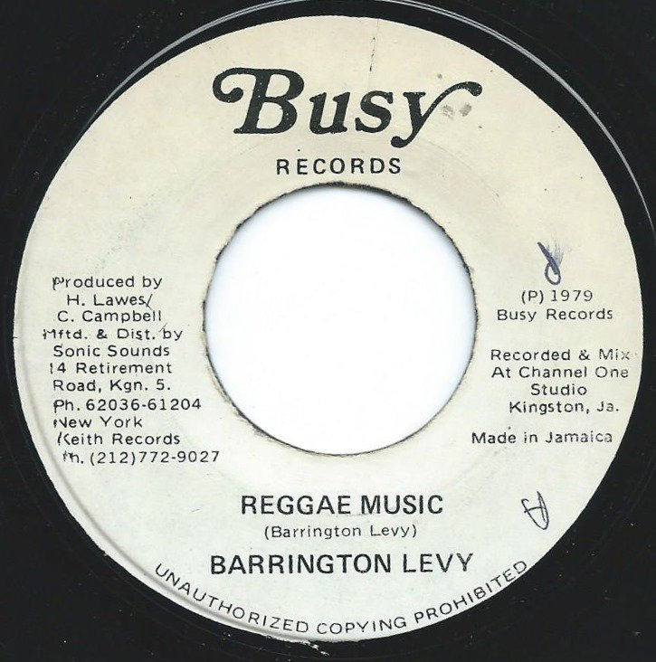 BARRINGTON LEVY ‎/ REGGAE MUSIC (7