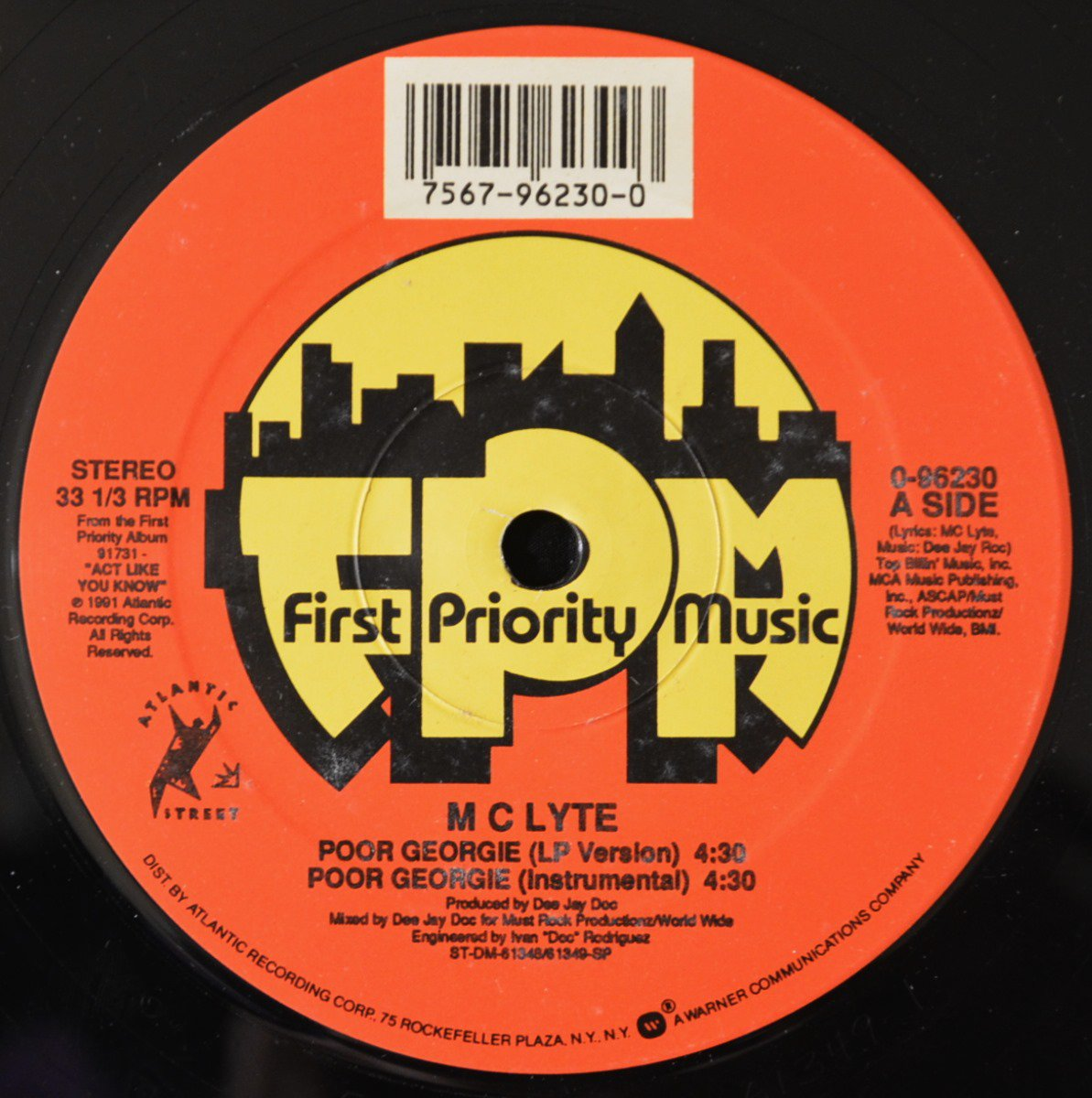 MC LYTE / POOR GEORGIE / SEARCH 4 THE LYTE (12