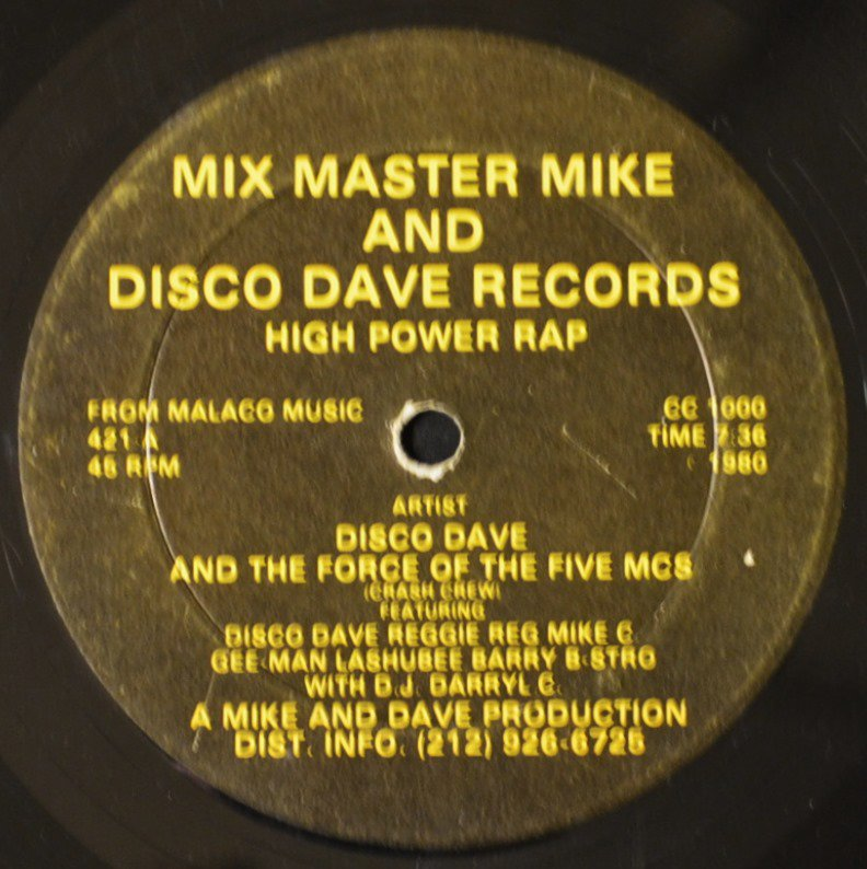 DISCO DAVE AND THE FORCE OF THE 5 MCS / HIGH POWER RAP (12